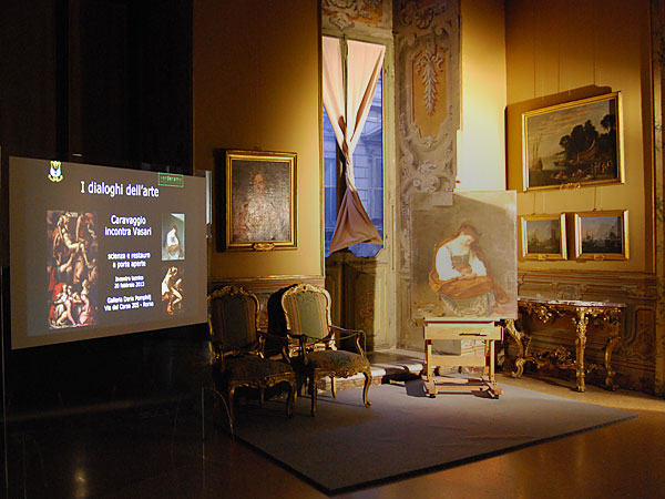 Caravaggio meets Vasari: technical meeting February 2013 20th